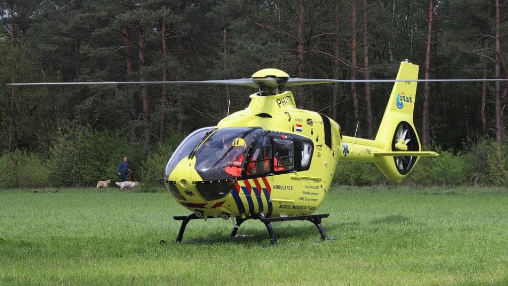 Traumaheli vliegt uit voor ernstig ongeluk in Renswoude