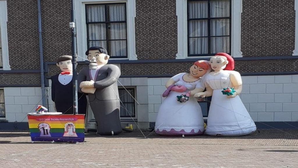 20 jaar homohuwelijk gevierd in Wageningen