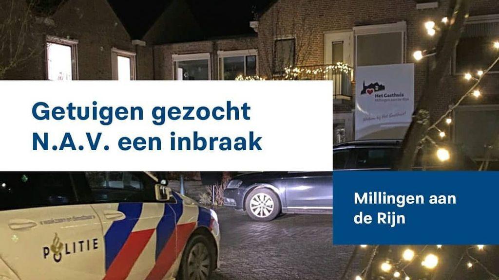 Inbraak in Gasthuis Millingen: politie zoekt getuigen