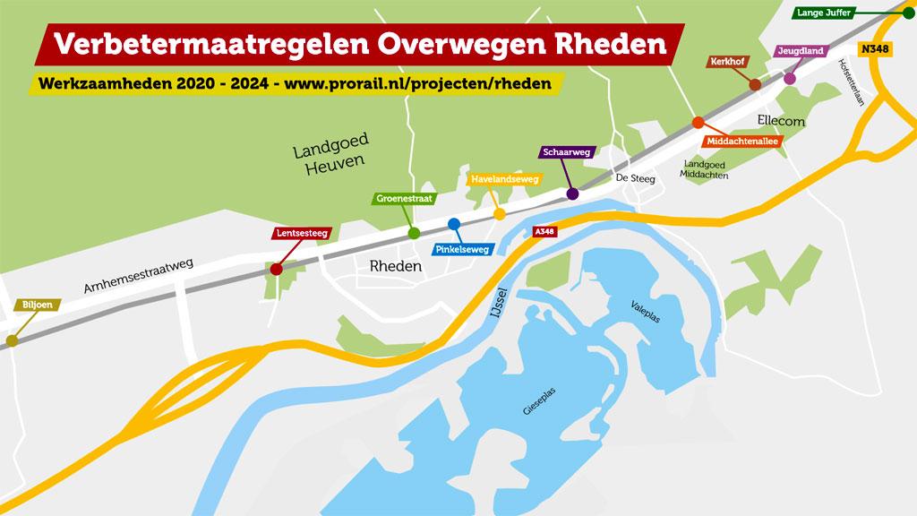 ProRail gaat veiligheid verbeteren bij spoorwegovergang in Rheden