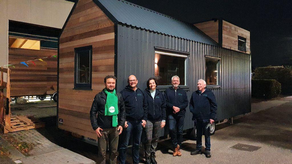 Tiny house van hout kan volgens CDA Lokaal deel van woningvraagstuk oplossen