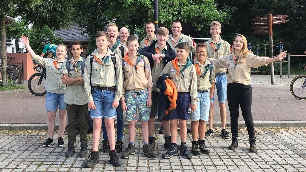 De scouts op kamp. Foto: Scouting Nunspeet