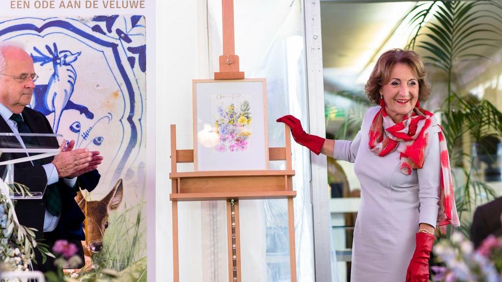 Prinses Margriet opent tentoonstelling 'Marjolein Bastin. Een ode aan de Veluwe'