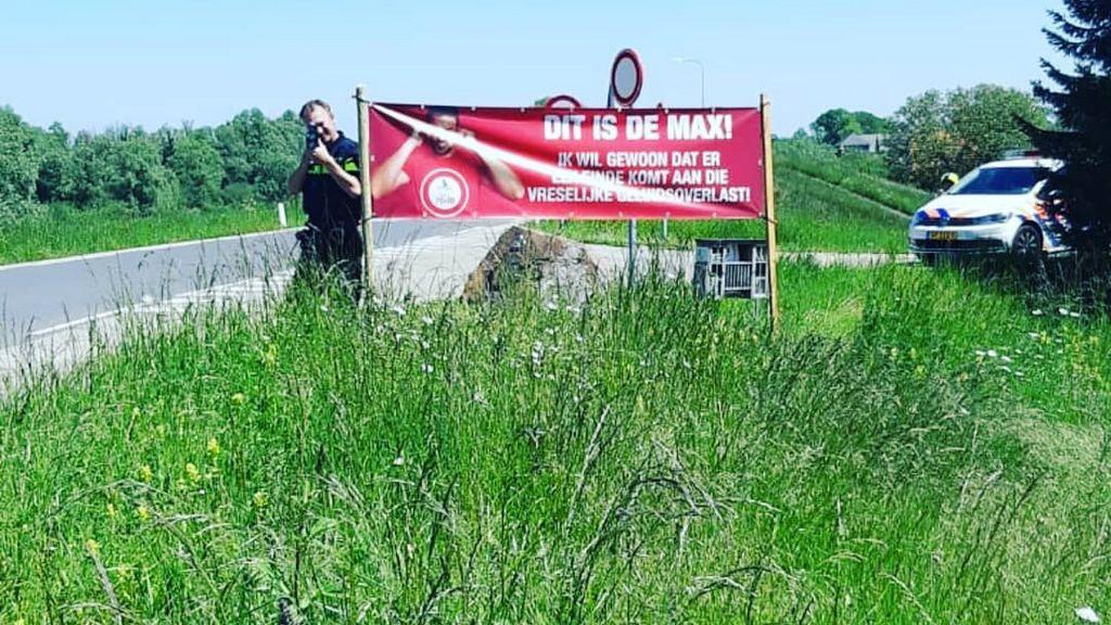 Politiecontroles op de dijken in de Ooijpolder