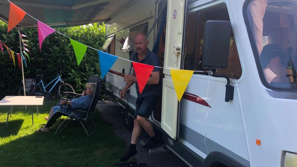 De campings zitten bomvol. Foto: Omroep Gelderland
