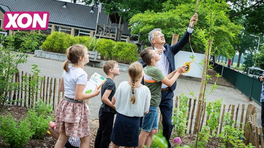 Groen schoolplein Foto: Gemeente Ede