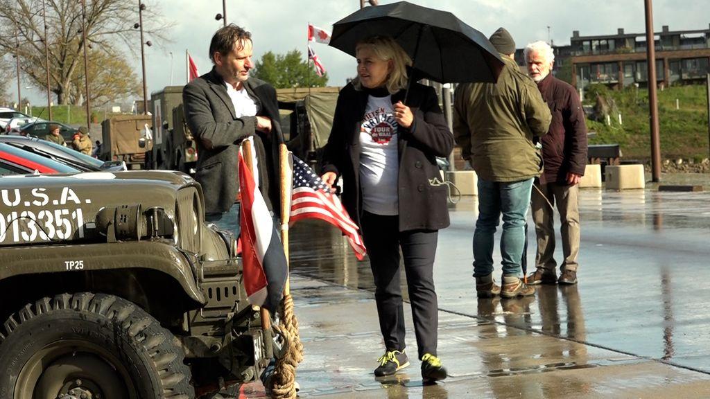 Tour de Waal trok woensdag het gebied in met oude legervoertuigen Foto: Omroep Gelderland