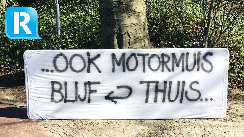 Bewoners protesteren tegen motoren op de Posbank