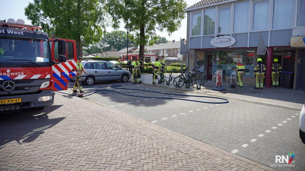 Felle brand in fotostudio Roerdompstraat Wijchen, verdachte is aangehouden