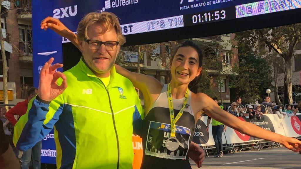 Jasmijn Lau toont topvorm in Barcelona, weer nieuw record