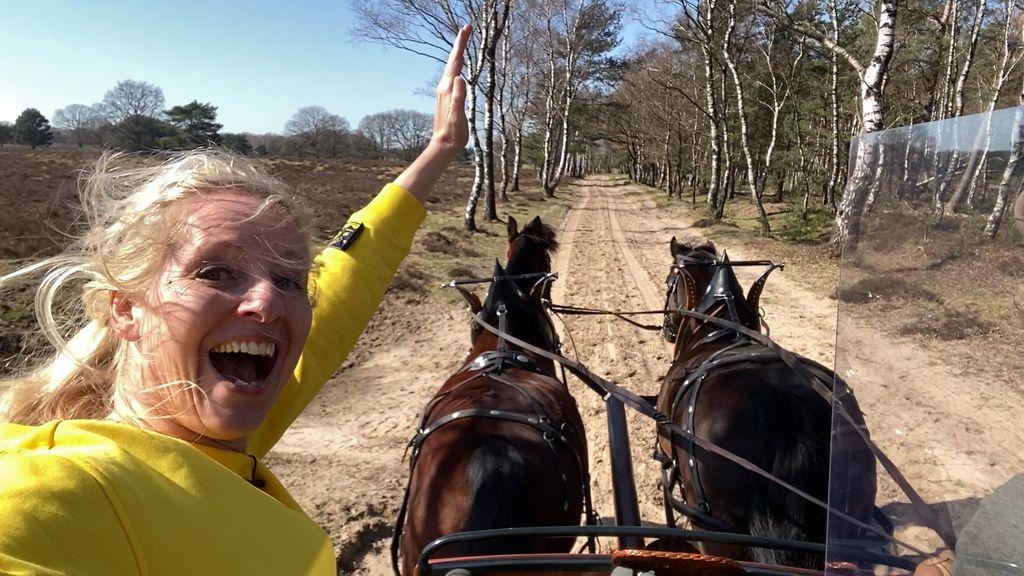 'Wow, in galop!', Linda maakt een mentocht over de Veluwe