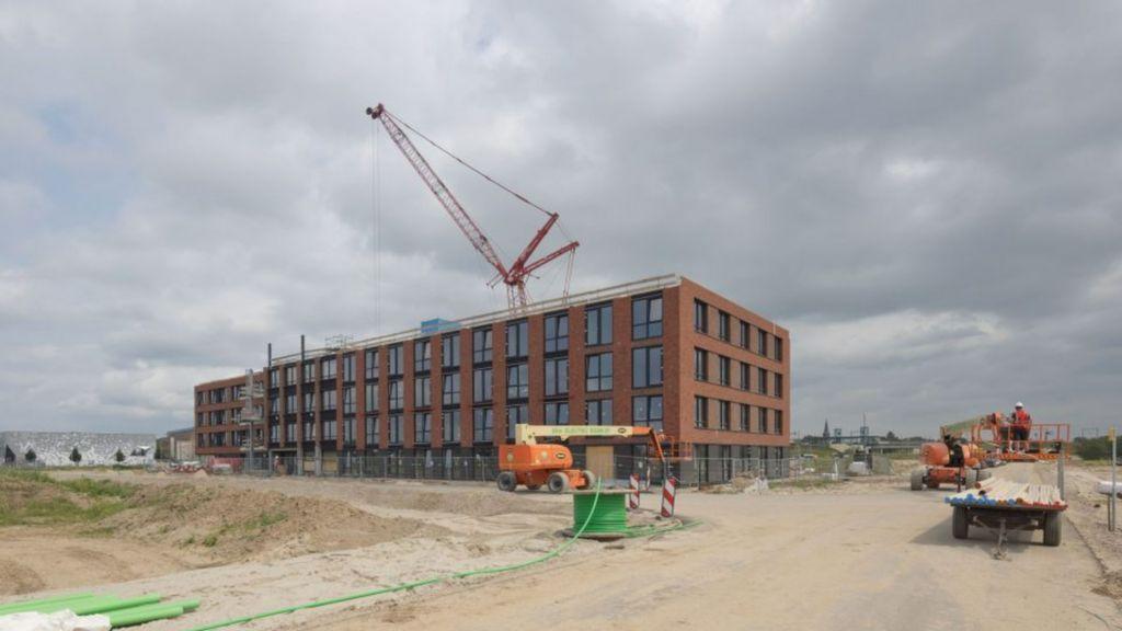 Het woonzorggebouw Aaron met 91 appartementen dat Talis laat bouwen in Nijmegen Noord Foto: Talis