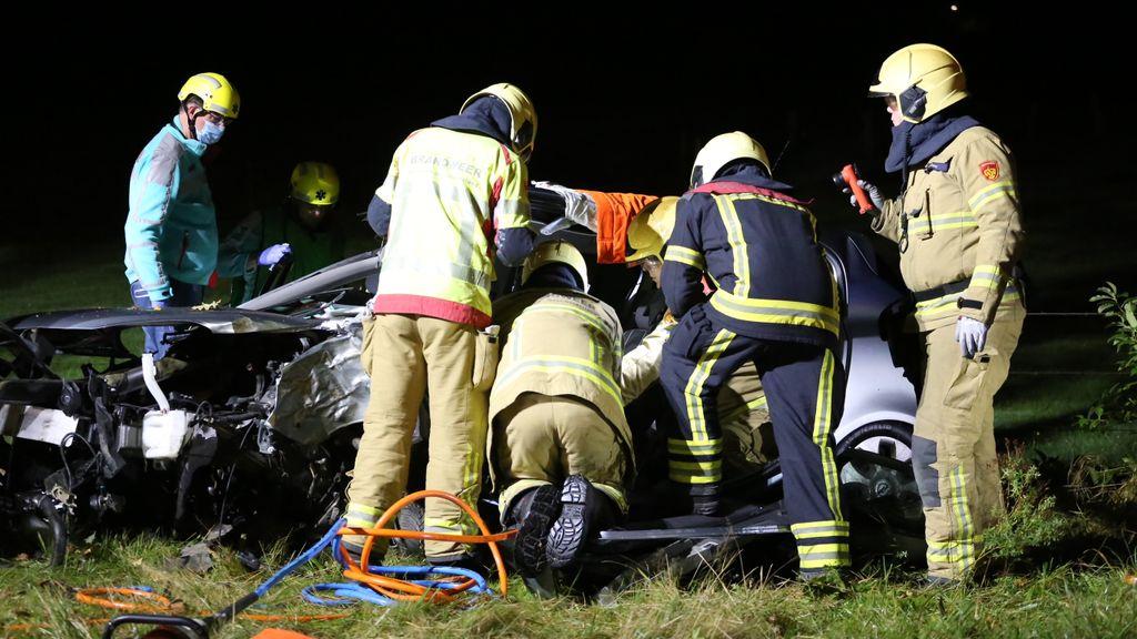 Automobilist raakt gewond bij ongeluk op de Stakenbergweg