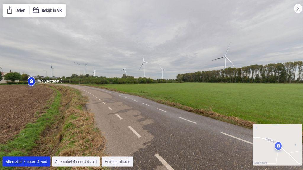 Twee voorkeursopstellingen windmolens in Zetten virtueel te zien