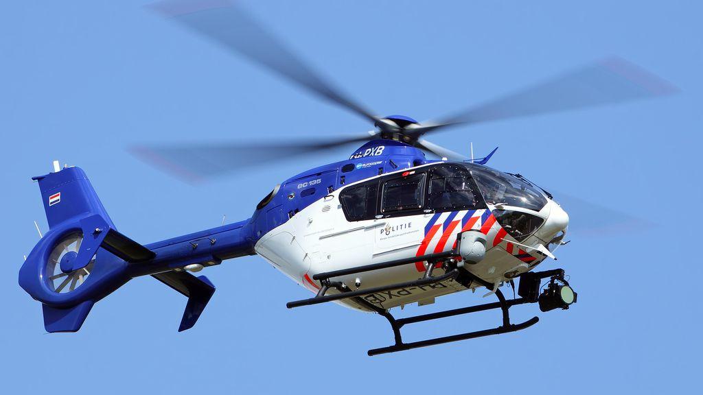 Politiehelikopter in actie. Foto: politie.nl