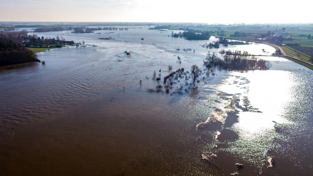 Waterschap Vallei en Veluwe heeft situatie die door hoogwater ontstaat onder controle